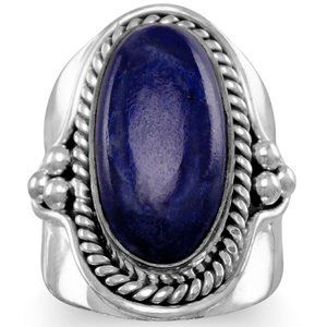 Oxidized Lapis Ring